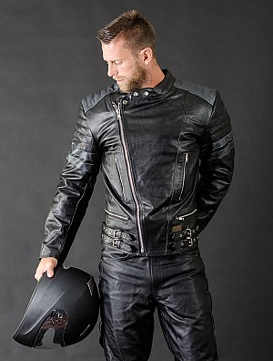 Alive Retro Leather mc skinnjacka 009887
