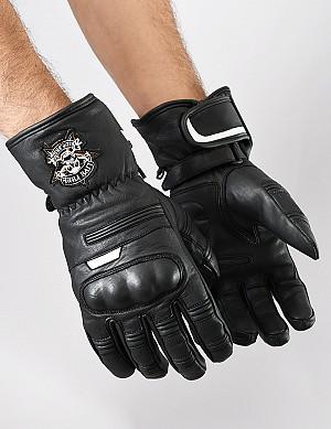 ATA Scullrider mc skinn handskar