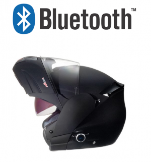 BLUETOOTH MATT BLACK RS980 MC HJÄLM