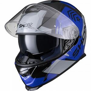 SHOX ASSAULT EVO RECOIL BLACK/BLUE 0303 MC HJÄLM