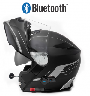 BLUETOOTH BLINC V5 FOSH GREY MATT STEREO MC HJÄLM