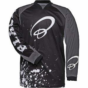 Black MX Splat Motocross Jersey White 1009 crosströja