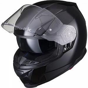 BLACK APEX FULL FACE Motorcycle Helmet GLOSS BLACK SOLVISIR 53051503 MC HJÄLM