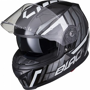 BLACK APEX TRIPLE Motorcycle Helmet BLACK GREY SOLVISIR 53066503 MC HJÄLM