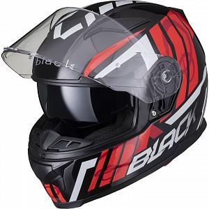 BLACK APEX TRIPLE Motorcycle Helmet RED SOLVISIR 53062503 MC HJÄLM