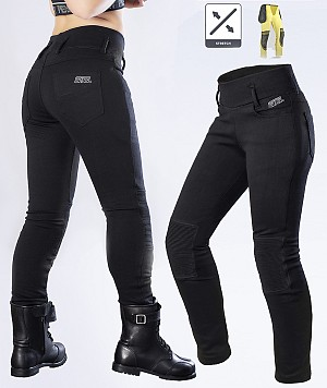 LADY KEV01 LEGGINGS BIKER MEKEVLAREN MC BYXA