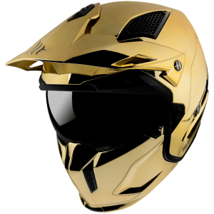 MT STREETFIGHTER SV CHROMED A9 GOLD MC / CROSS HJÄLM