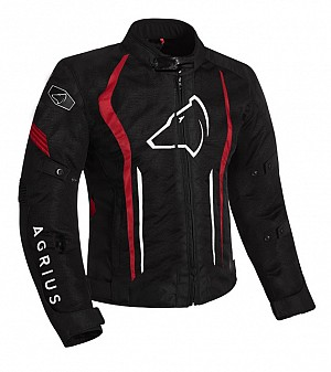 Agrius Phoenix Motorcycle BLACK/RED 51026-0204 ALLVÄDER MC JACKA